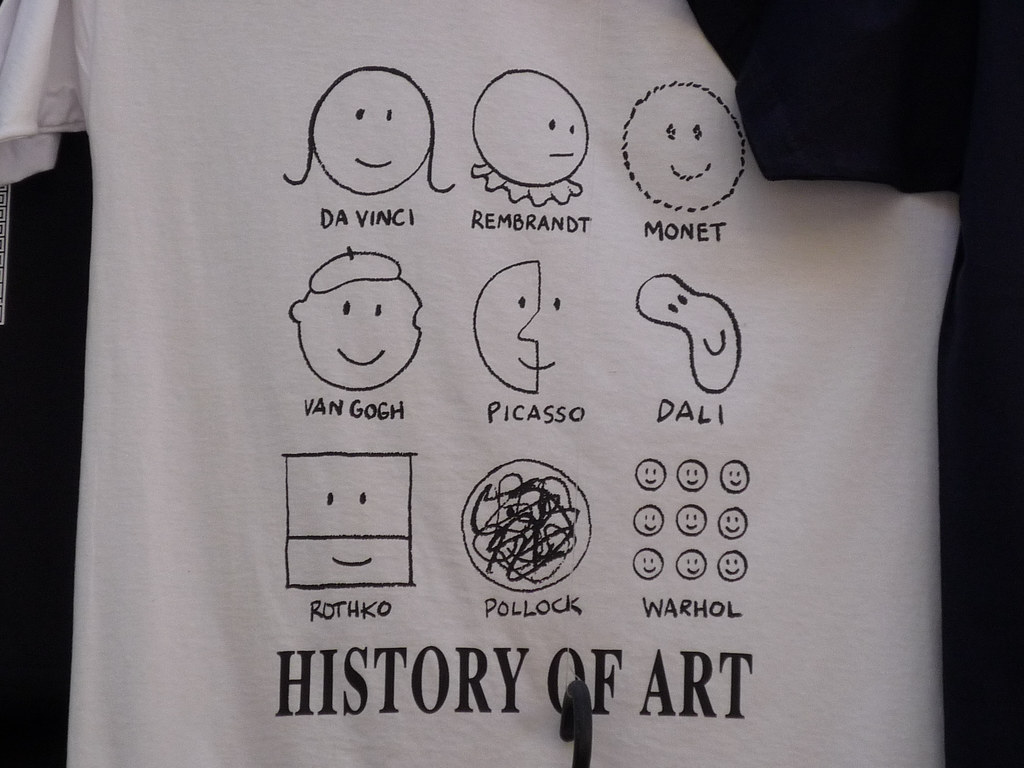 History of Art Shirt by Duncan Hull https://creativecommons.org/licenses/by/2.0/ (no change)