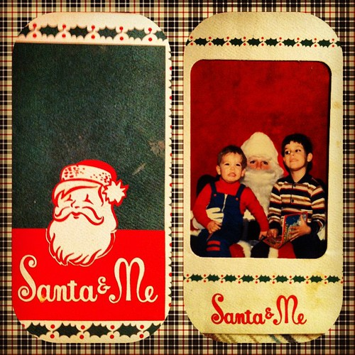 Santa & Me & my brother circa 1983 | by @Bmazing