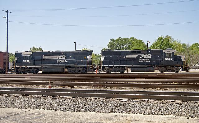 Norfolk Southern Engines At Greenville Yard Greenville