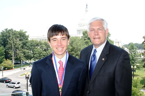 Congressman Sessions with Stephen Hoefer, Congressional Award Gold Medal Recipient | by Congressman Pete Sessions
