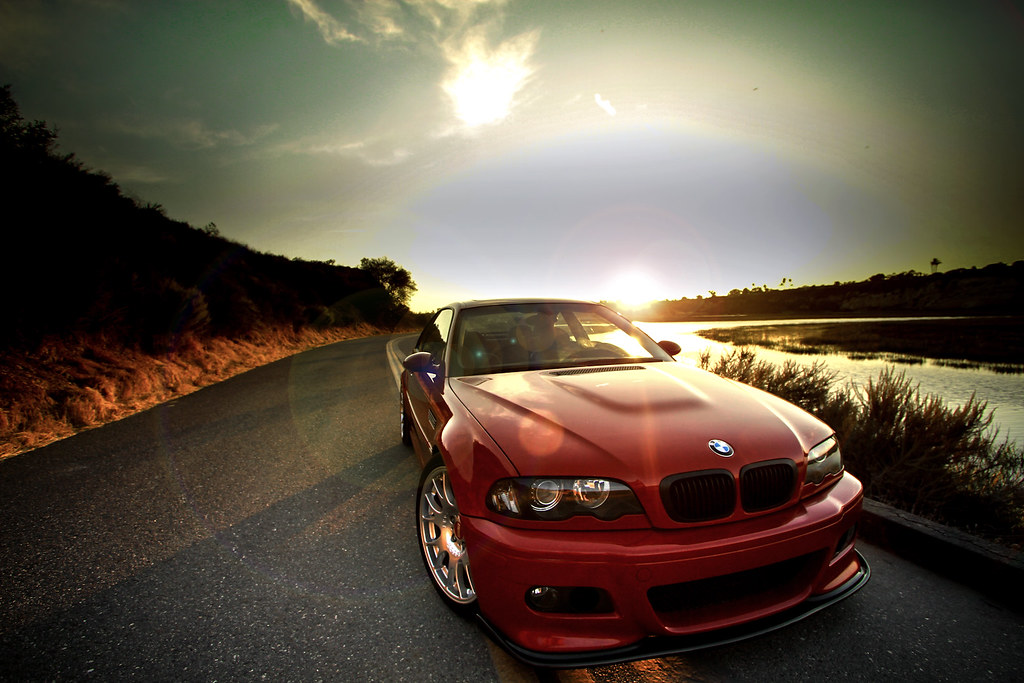 Imola Red BMW E46 M3 on BBS CH