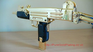 Uzi SMG Gold Plated d | by PureGoldPlating