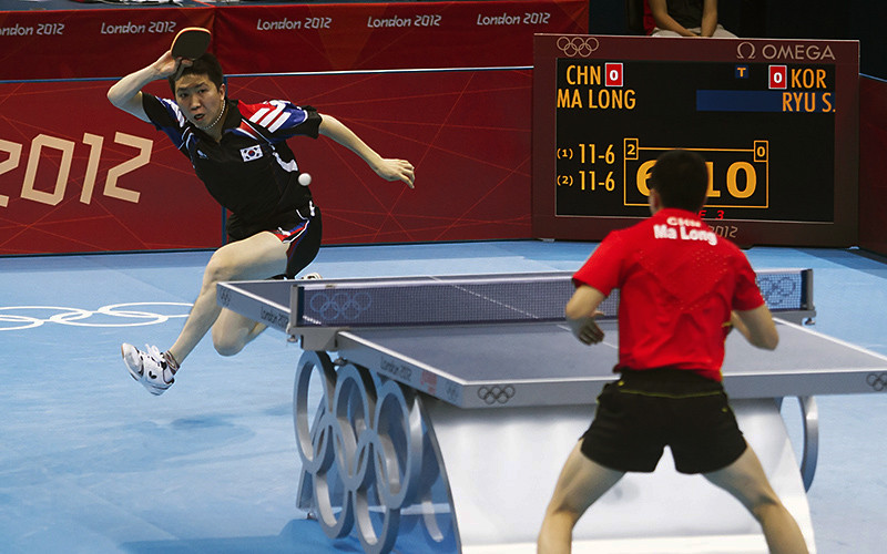 2012 olympic games table tennis