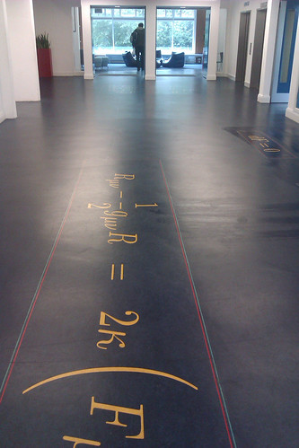 Maxwell's equations, floor of the JCMB, University of Edinburgh | by dullhunk