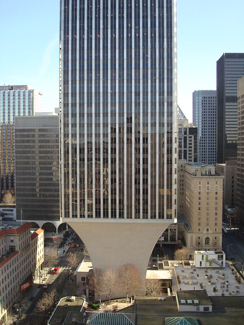 Rainier Tower Middle Distant View Of Base From East