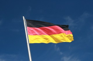 German flag flying against a blue sky | by Supermac1961