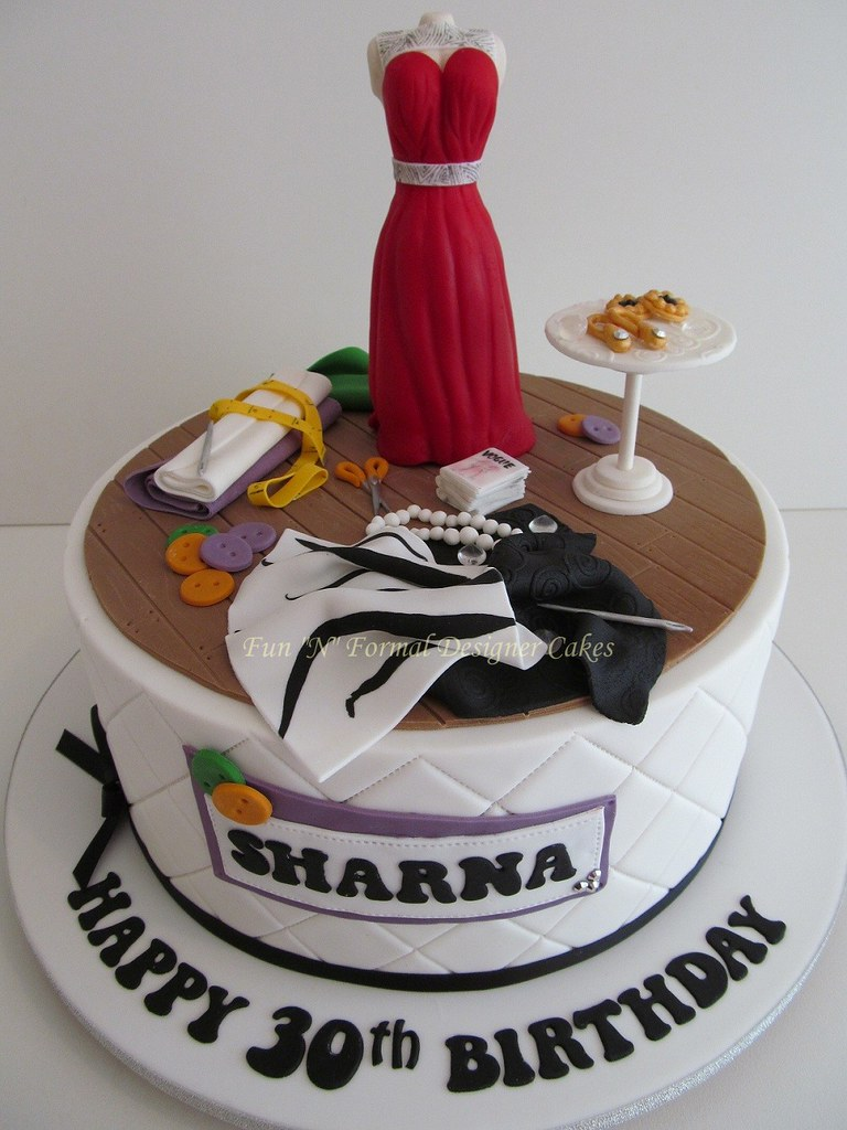 Cake Design In Charlwood : Fashion Designer Themed Birthday Cake Sharna is an up ...