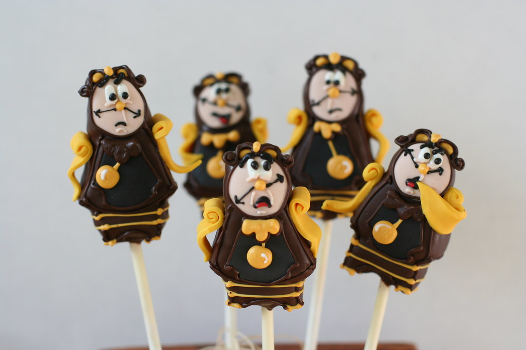 Cogsworth Cake Pops | Cogsworth the clock from Beauty and ...