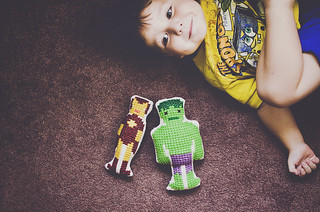 hanging out with superheroes | by Lisa | goodknits