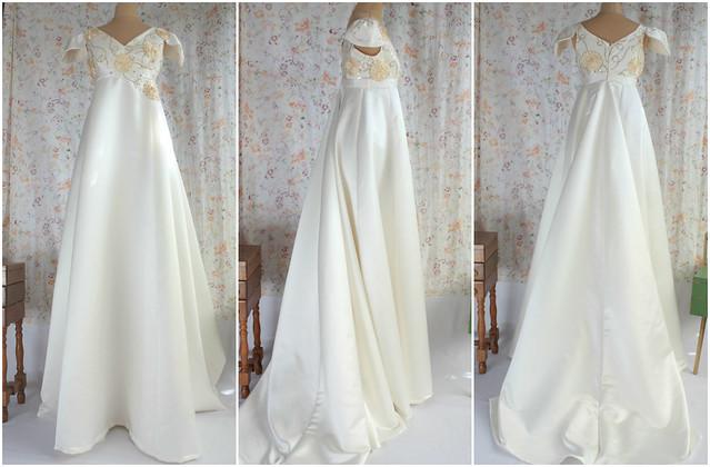 Perceneige, robe de mariée taille haute