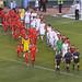 Football at Fenway - Both Teams Entering