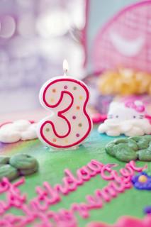 Candle Lit Birthday Cake