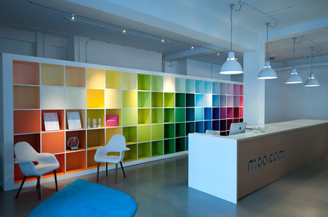 Inspiring reception desks a printing company for Design my office space