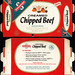 Swanson - Creamed Chipped Beef - NEW! - TV Dinner - packaged food box - 1950's 1960's