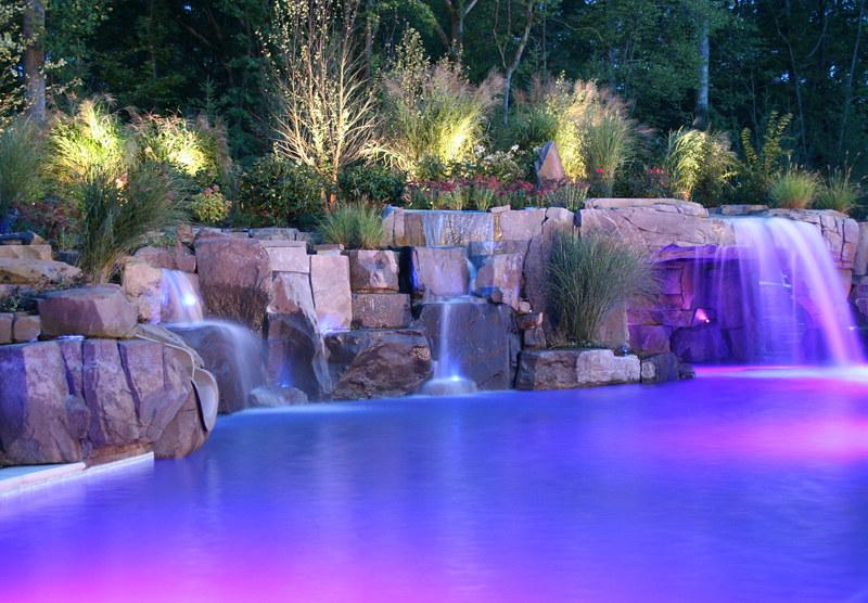 Backyardfiberopticswimmingpoolwaterfalldesignsnewj Flickr Enchanting Swimming Pool Waterfall Designs