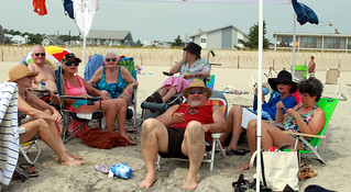 20120726 1120 - Bethany Beach trip - family under tent - (by Jennifer) - 7651043798_164eb609c6_o | by Rev. Xanatos Satanicos Bombasticos (ClintJCL)
