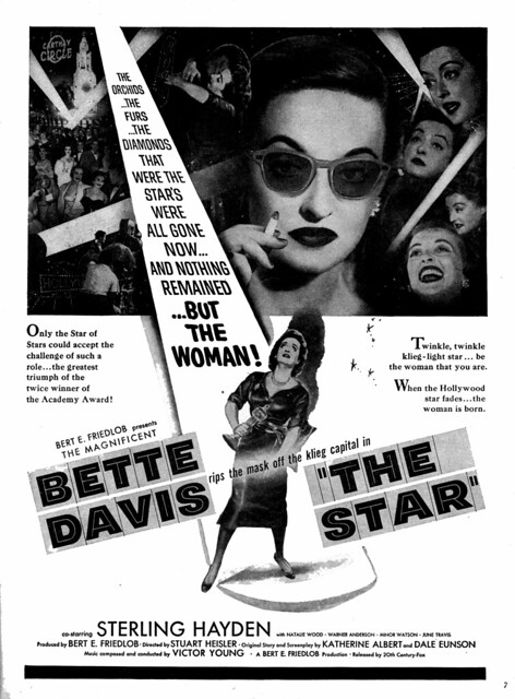 """Twinkle, twinkle....."" The Magnificent BETTE DAVIS - The STAR - 1952"