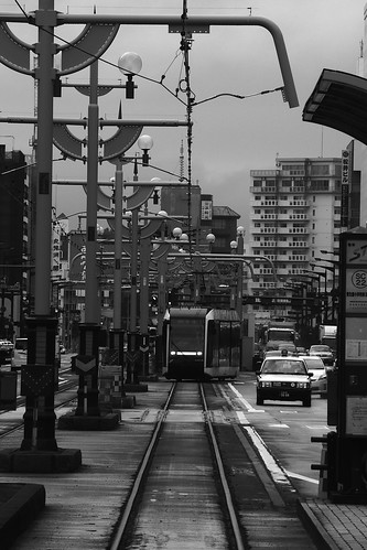 Tramcars at Sapporo in early morning on JUL 20, 2016 (16)