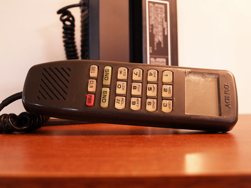 Complete Brick Phone 1985 Old School Mobile VINTAGE CELLULAR Bag Telephone Tandy circa Eighties | by Aces Finds Vintage