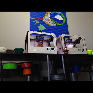 New #makerbot setup #3dprinting | by videopixil