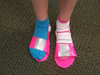 Tweens duct tape sandals. | by bernardstownshiplibrary