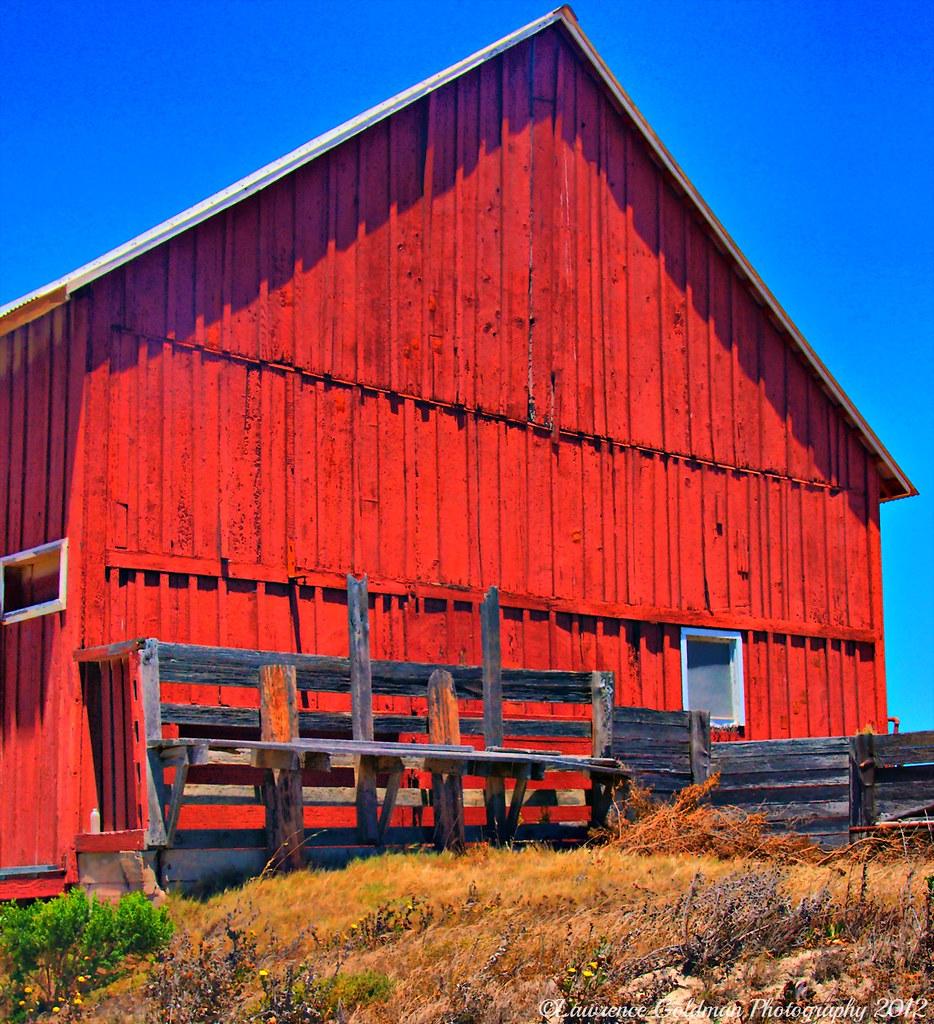 Side Of A Red Barn Santa Rosa Island, Channel Islands Nati