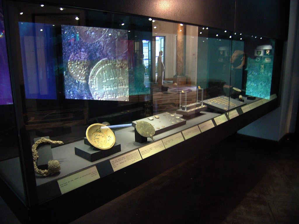 Underwater Archaeology - Finds on Display in Display Case ...