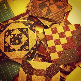 #fwqal piles of farmers wife blocks :) | by CoraQuilts~Carla