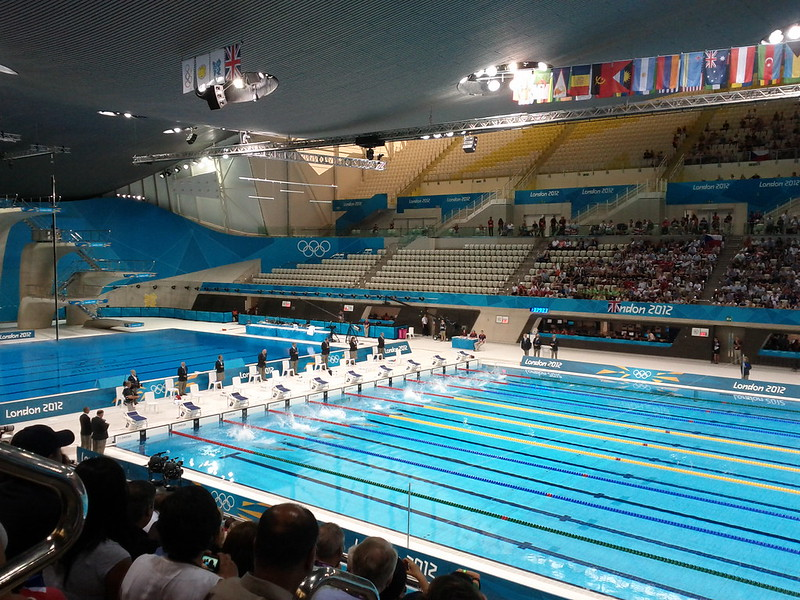 #london2012 heat 4 in modern pentathlon swimming