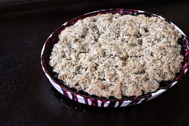 Grain-free Blueberry Cobbler - Gluten-free, Vegan + Refined Sugar-free