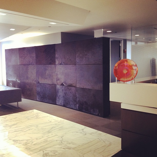 Lbby Accent Wall: EVRAZ Office Lobby With Animal Fur Accent Wall
