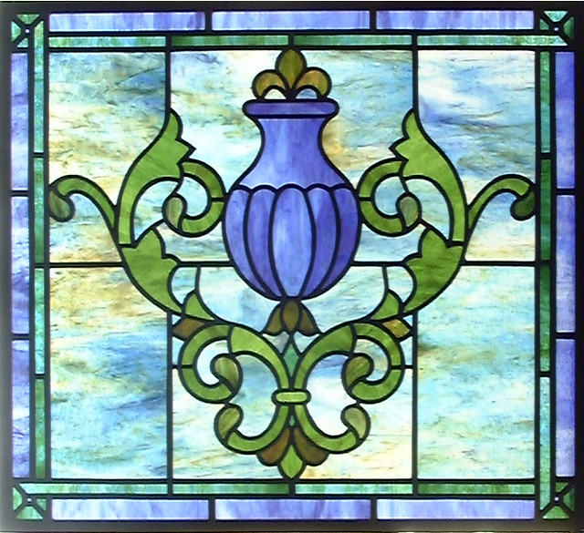 simple urn stained glass window flickr photo sharing