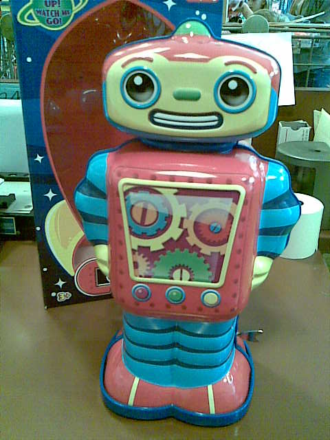 Cosmo Toy Robot New : Cosmo robot he s new here evil flickr