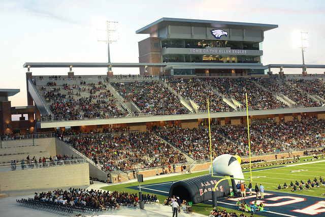 New 60 million allen eagles football stadium flickr Home and garden show allen tx
