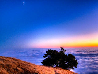 Mount Tamalpais and the Moon 2 | by gogolovercoat