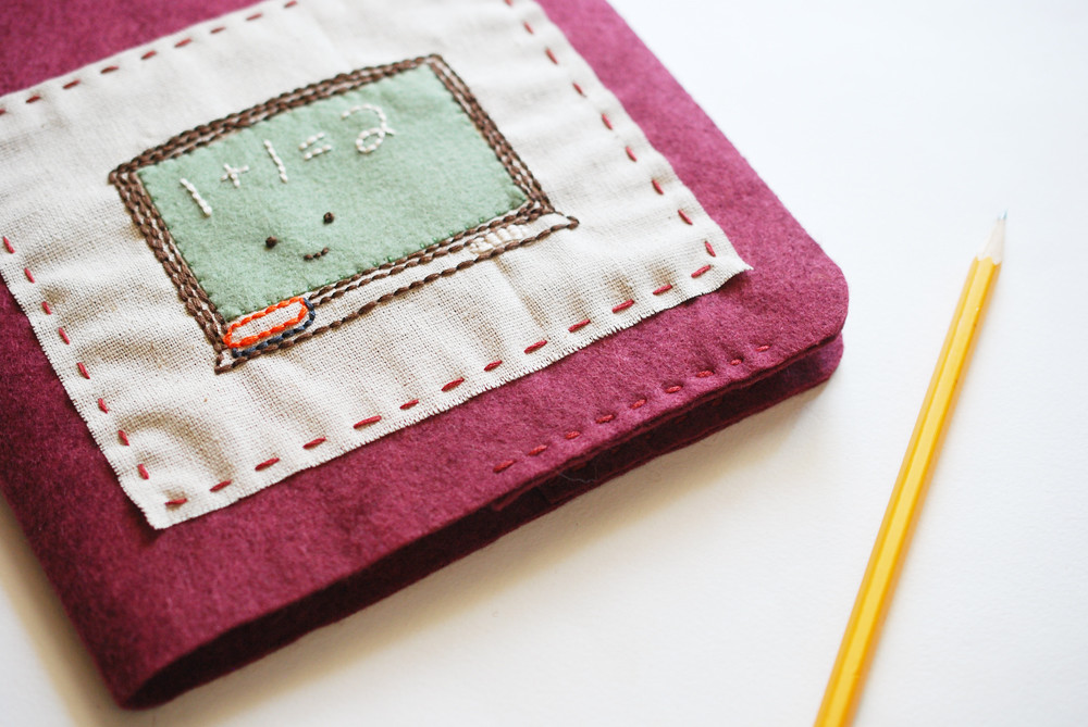 Cool Ways To Cover A Book : Felt journal cover a fun way to composition book