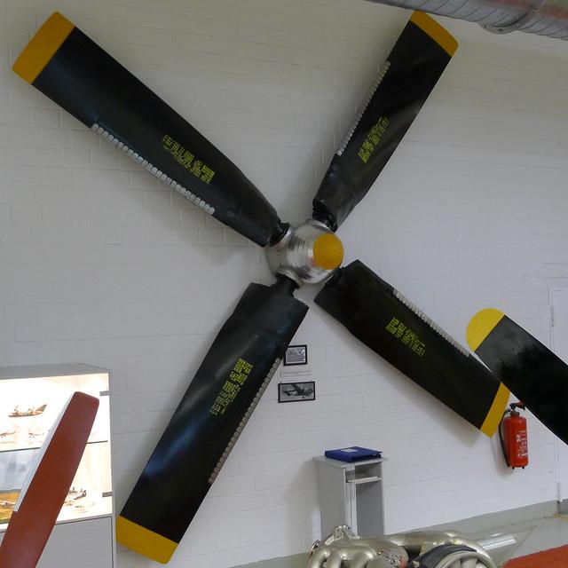 Verstell-Luftschraube des US-Transportflugzeuges C-119 Boxcar