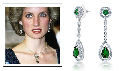 princess diana emerald chandelier earrings overstock