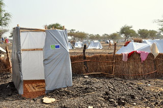 One of the first latrines built in Jamam camp | by Oxfam International