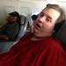 Mike Lolls on Plane