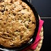 banana walnut chocolate cookie cake