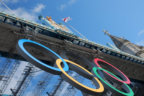 Tower Bridge and Olympic Rings | by just1snap