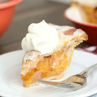 Triple Vanilla Bean-Scented Peach Pie | by Tracey's Culinary Adventures