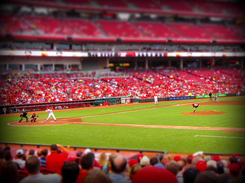 tilt-shift fastball - great american ballpark | by xthylacine