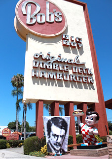Ron Swanson quilt along - Bob's Big Boy in Burbank | by Happy Zombie