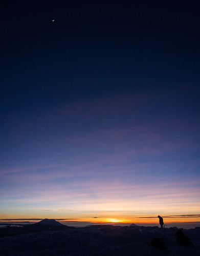 Man and Moon over Cotopaxi | by Joshua.....