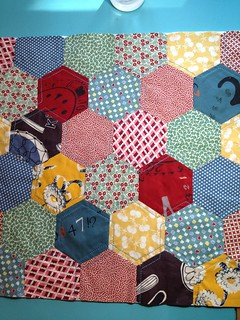 EPP hexagon pillow top | by tinkerfrog