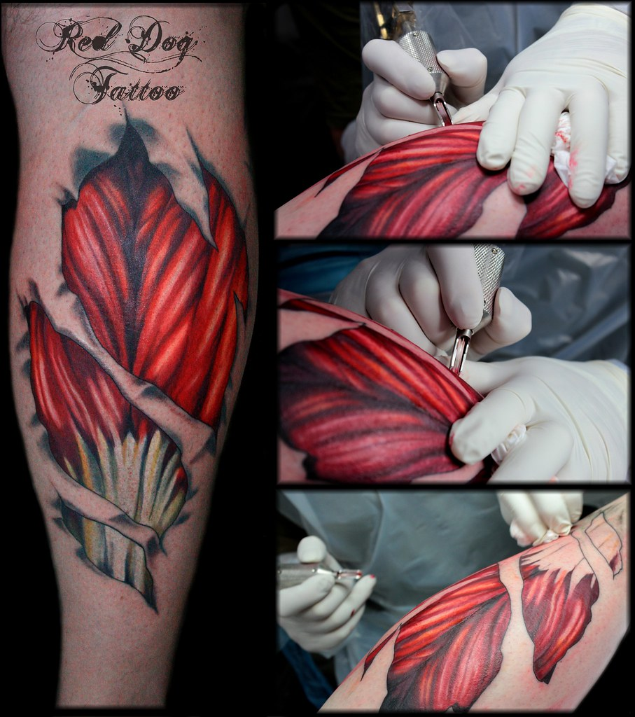 Calf muscles   Tattoo done at Red Dog Tattoo Benalmadena & T…   Flickr