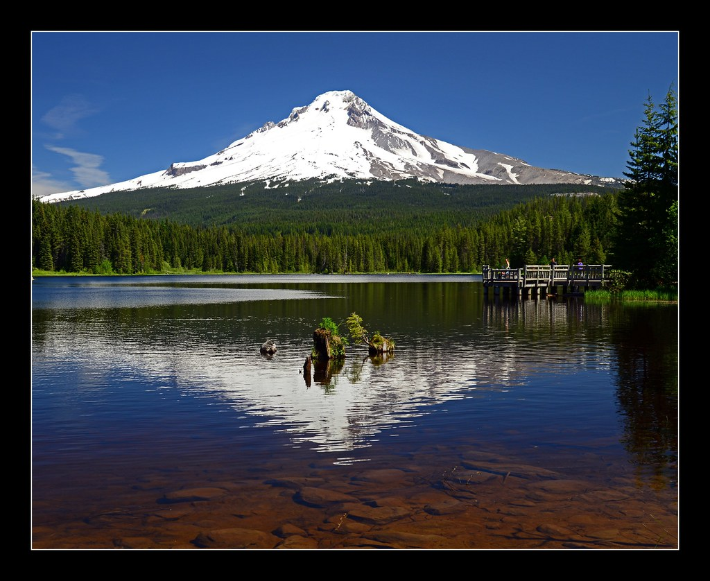 Mt hood from trillium lake only seven and a half miles for Barlow cabin trillium lake