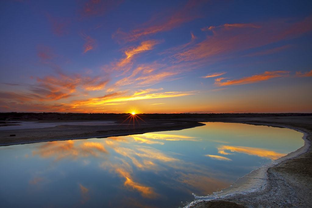 sunset reflections in alviso last thursday was